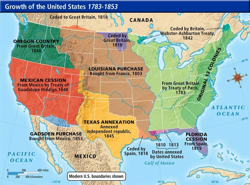 Image result for manifest destiny map
