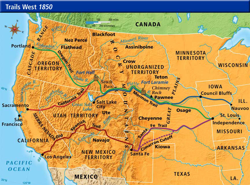 Trails west westward expansion picture freerunsca Choice Image